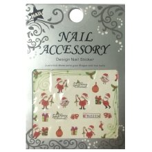 Nail Accessory, Водный стикер J&Z (New Year) - BLE2334