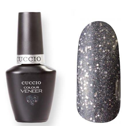 Cuccio Veneer, цвет № 6053 Vegas Vixen 13 mlCuccio Veneer<br>Гель-лак темно-серый, перламутровый, с мелкими и средними серебряными блестками, плотный.<br>