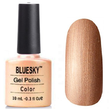 Bluesky, Шеллак цвет № 80503 Iced Cappuccino 10 mlBluesky 10 мл<br>Гель-лак бежевый, перламутровый, теплого оттенка, плотный<br>