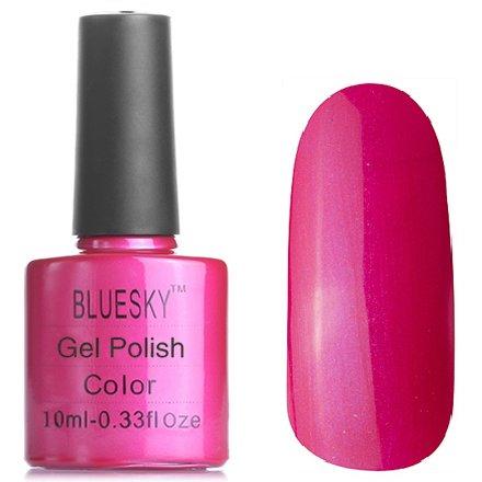 Bluesky, Шеллак цвет № 80506 Tutti Frutti 10 mlBluesky 10 мл<br>Гель-лак ярко-розовый, цикламеновый с микроблестками, плотный<br>