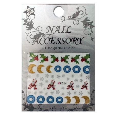 Nail Accessory, 3D Стикер J&amp;Z (New Year) - E024Наклейки для дизайна ногтей<br>Самоклеящиеся наклейки для дизайна ногтей.<br>