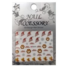 Nail Accessory, 3D Стикер J&Z (New Year) - E025
