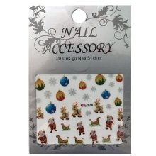 Nail Accessory, 3D Стикер J&Z (New Year) - E026