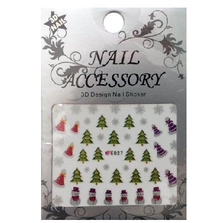 Nail Accessory, 3D Стикер J&amp;Z (New Year) - E027Наклейки для дизайна ногтей<br>Самоклеящиеся наклейки для дизайна ногтей.<br>