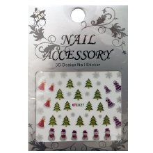 Nail Accessory, 3D Стикер J&Z (New Year) - E027