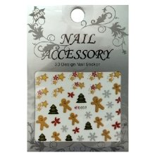 Nail Accessory, 3D Стикер J&Z (New Year) - E032