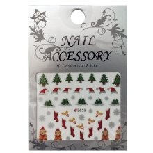 Nail Accessory, 3D Стикер J&Z (New Year) - E035
