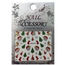 Nail Accessory, 3D Стикер J&Z (New Year) - E042