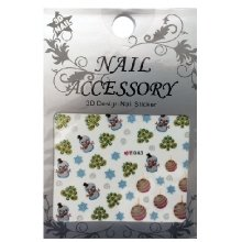 Nail Accessory, 3D Стикер J&Z (New Year) - E043