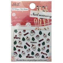 Nail Accessory, 3D Стикер J&Z (New Year) - BLE939D