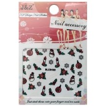 Nail Accessory, 3D Стикер J&Z (New Year) - BLE949D