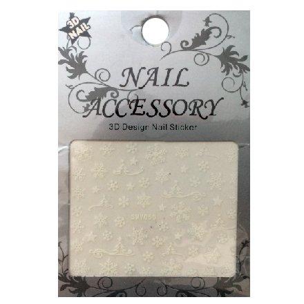 Nail Accessory, 3D Стикер J&amp;Z (Снежинки) - SMY050Наклейки для дизайна ногтей<br>Самоклеящиеся наклейки для дизайна ногтей.<br>