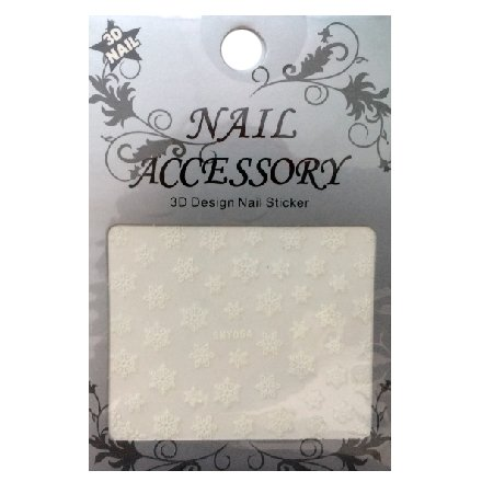 Nail Accessory, 3D Стикер J&amp;Z (Снежинки) - SMY054Наклейки для дизайна ногтей<br>Самоклеящиеся наклейки для дизайна ногтей.<br>