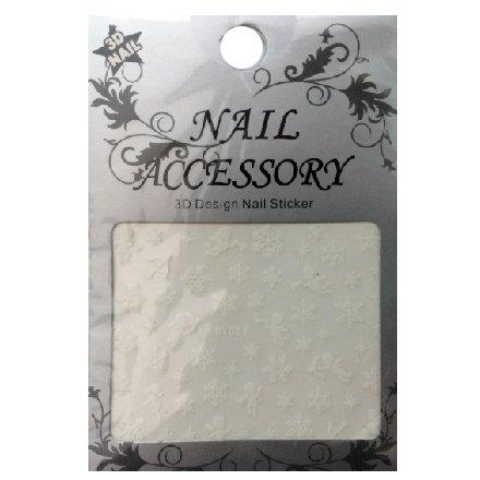 Nail Accessory, 3D Стикер J&amp;Z (Снежинки) - SMY057Наклейки для дизайна ногтей<br>Самоклеящиеся наклейки для дизайна ногтей.<br>