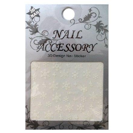 Nail Accessory, 3D Стикер J&amp;Z (Снежинки) - SMY059Наклейки для дизайна ногтей<br>Самоклеящиеся наклейки для дизайна ногтей.<br>