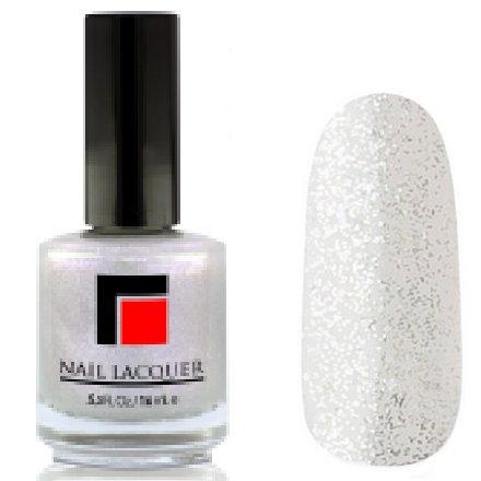 Milv, Лак для ногтей №01Лаки MILV<br>Прозрачно-белый с голубым перламутром исеребристым глитером<br>
