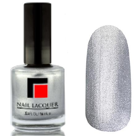 Milv, Лак для ногтей №07Лаки MILV<br>Серебристо-серый перламутровый металлик, плотный<br>