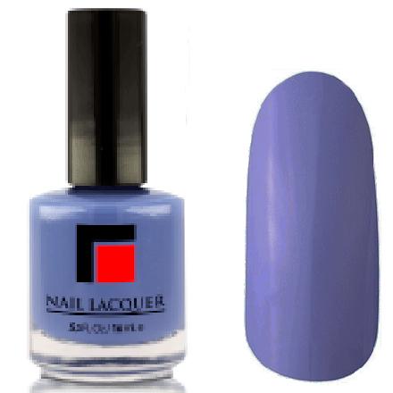 Milv, Лак для ногтей №12Лаки MILV<br>Сиренево-голубой глянцевый, плотный<br>
