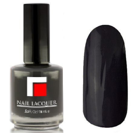 Milv, Лак для ногтей №23Лаки MILV<br>Темно-серый глянцевый, плотный<br>