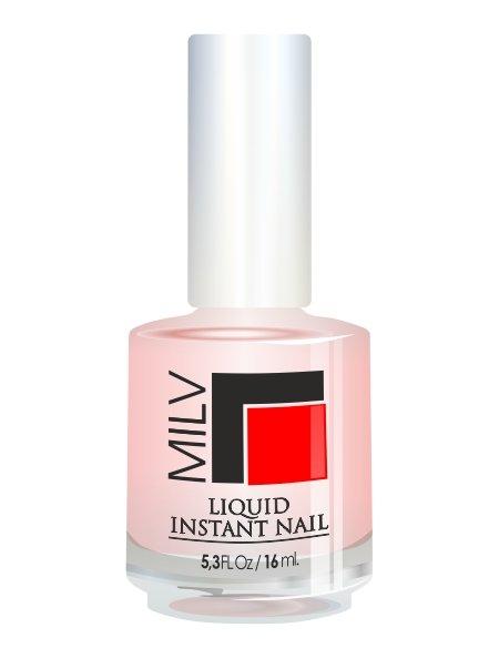 Milv, Liquid instant nail - Базовое покрытие, 16 млЛечебные и укрепляющие средства Milv<br>Активный укрепитель для натуральных ногтей + базовое выравнивающее покрытие «Жидкий ноготь»<br>