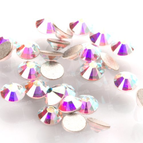 Swarovski Elements, Cтразы Crystal Aurore Boreale 1,0 мм (30 шт)Стразы<br>Swarovski Elements диаметром 1,0 мм для неповторимого, сияющего маникюра.<br>