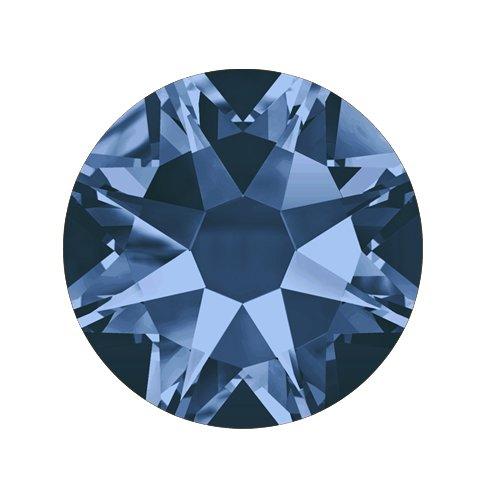 Swarovski Elements, Cтразы Montana 1,0 мм (30 шт)Стразы<br>Swarovski Elements диаметром 1,0 мм для неповторимого, сияющего маникюра.<br>