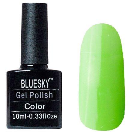 Bluesky, Шеллак цвет № 80579 Lush Tropix 10 mlBluesky 10 мл<br>Гель-лак ярко-зеленый, без блесток и перламутра, плотный<br>