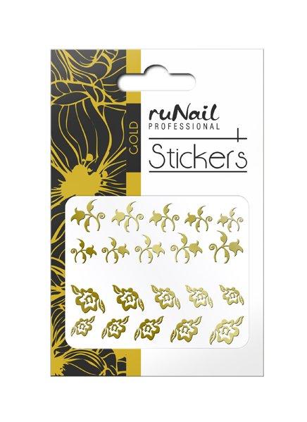 ruNail, Наклейки для дизайна ногтей (золотые) № 1450 (RuNail (Россия))