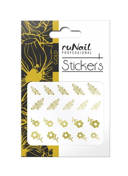 ruNail, Наклейки для дизайна ногтей (золотые) № 1452 (RuNail (Россия))