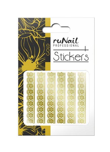 ruNail, Наклейки для дизайна ногтей (золотые) № 1455Наклейки для дизайна ногтей<br>Самоклеящиеся наклейки для дизайна.<br>