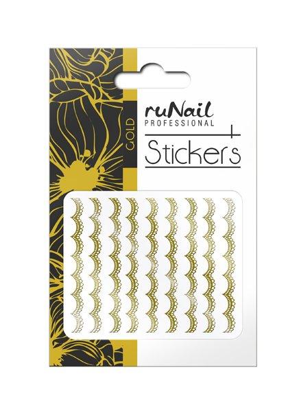 ruNail, Наклейки для дизайна ногтей (золотые) № 1456 (RuNail (Россия))
