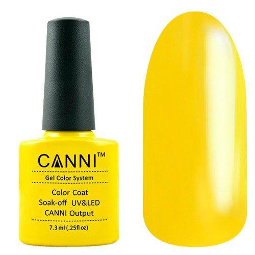 Canni, Гель-лак №1 (7.3 мл)Canni<br>Гель-лак глубокий желтый, без перламутра, плотный.<br>