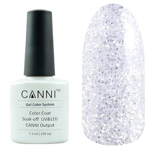 Canni, Гель-лак №5 (7.3 мл)Canni<br>Гель-лак полупрозрачный с черными и белыми мелкими блёстками.<br>