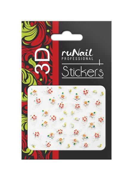 ruNail, 3D Наклейки для дизайна ногтей № 1622Наклейки для дизайна ногтей<br>Самоклеящиеся наклейки для дизайна ногтей. Цветы.<br>
