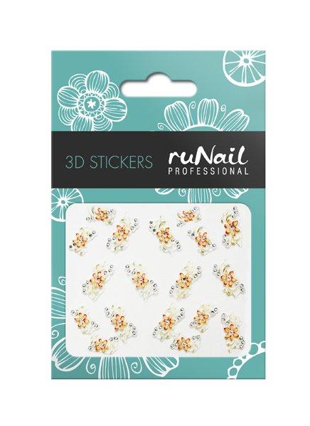 ruNail, 3D Наклейки для дизайна ногтей № 1623Наклейки для дизайна ногтей<br>Самоклеящиеся наклейки для дизайна ногтей. Цветы.<br>