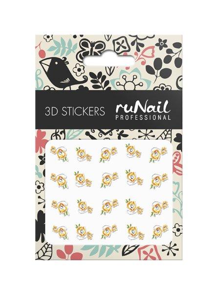 ruNail, 3D Наклейки для дизайна ногтей № 1625Наклейки для дизайна ногтей<br>Самоклеящиеся наклейки для дизайна ногтей. Цветы.<br>