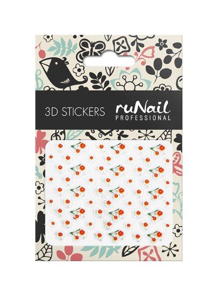 ruNail, 3D Наклейки для дизайна ногтей № 1626Наклейки для дизайна ногтей<br>Самоклеящиеся наклейки для дизайна ногтей. Цветы.<br>
