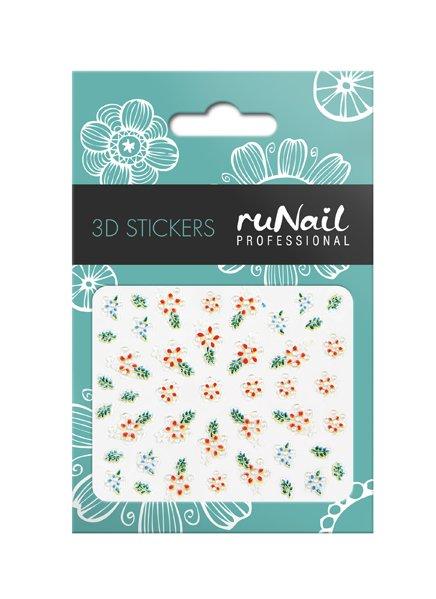 ruNail, 3D Наклейки для дизайна ногтей № 1629Наклейки для дизайна ногтей<br>Самоклеящиеся наклейки для дизайна ногтей. Цветы.<br>