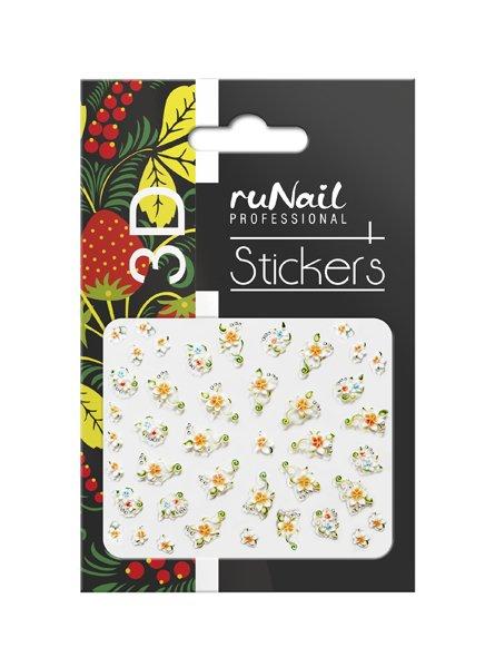 ruNail, 3D Наклейки для дизайна ногтей № 1632Наклейки для дизайна ногтей<br>Самоклеящиеся наклейки для дизайна ногтей. Цветы.<br>