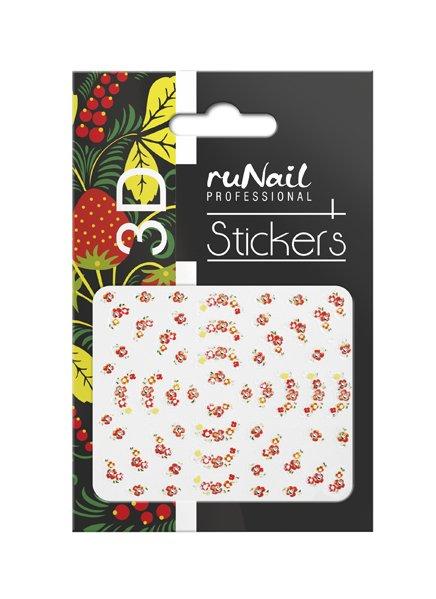 ruNail, 3D Наклейки для дизайна ногтей № 1635Наклейки для дизайна ногтей<br>Самоклеящиеся наклейки для дизайна ногтей. Цветы.<br>
