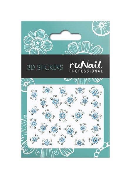 ruNail, 3D Наклейки для дизайна ногтей № 1642Наклейки для дизайна ногтей<br>Самоклеящиеся наклейки для дизайна ногтей. Цветы.<br>