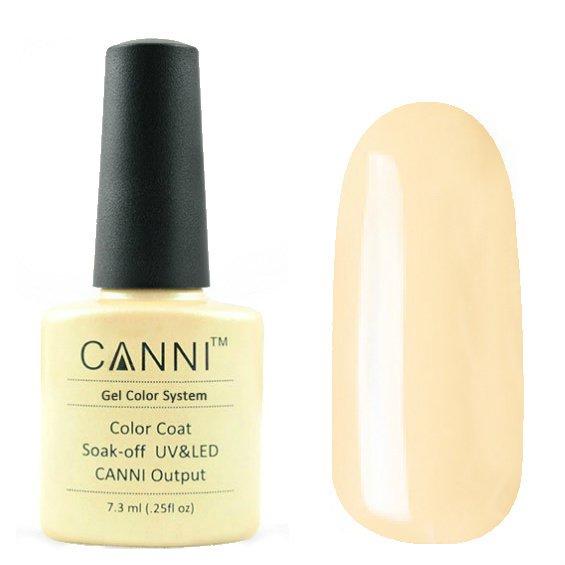 Canni, Гель-лак №17 (7.3 мл)Canni<br>Гель-лак бледный персиковый, без перламутра, плотный.<br>