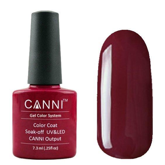 Canni, Гель-лак №28 (7.3 мл)Canni<br>Гель-лак цвет переспелой вишни, без перламутра, плотный.<br>