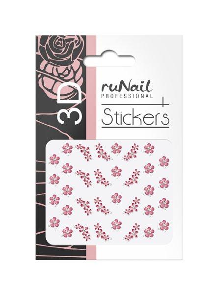 ruNail, 3D Наклейки для дизайна ногтей № 1645Наклейки для дизайна ногтей<br>Самоклеящиеся наклейки для дизайна ногтей. Цветы.<br>