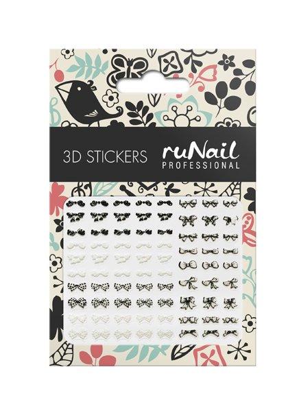 ruNail, 3D Наклейки для дизайна ногтей № 1650Наклейки для дизайна ногтей<br>Самоклеящиеся наклейки для дизайна ногтей. Бантики.<br>