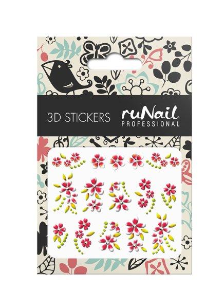 ruNail, 3D Наклейки для дизайна ногтей № 1652Наклейки для дизайна ногтей<br>Самоклеящиеся наклейки для дизайна ногтей. Цветы.<br>