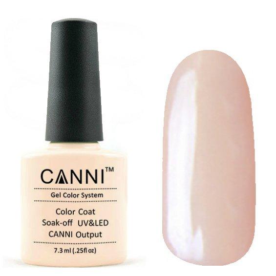 Canni, Гель-лак №60 (7.3 мл)Canni<br>Гель-лак бледно-розовый, без перламутра, плотный.<br>
