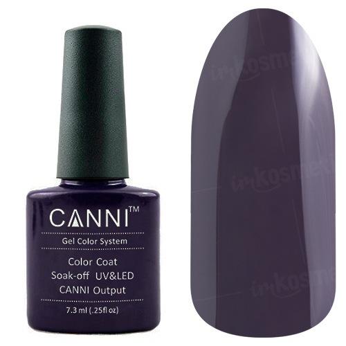 Canni, Гель-лак №22 (7.3 мл)Canni<br>Гель-лак черно-коричневый, без перламутра, плотный.<br>