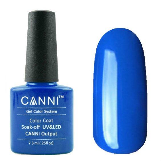 Canni, Гель-лак №25 (7.3 мл)Canni<br>Гель-лак синий, без перламутра, плотный.<br>