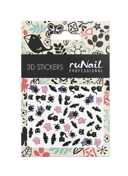 ruNail, 3D Наклейки для дизайна ногтей № 1659Наклейки для дизайна ногтей<br>Самоклеящиеся наклейки для дизайна ногтей. Кошки-мышки.<br>